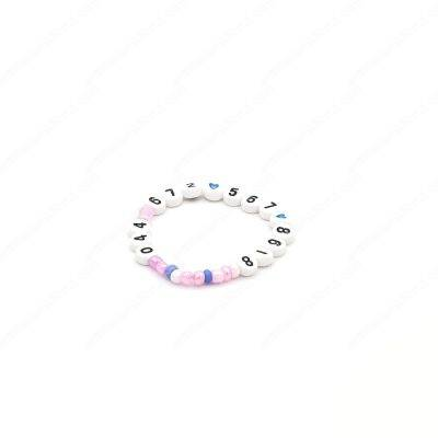 Children Emergency Phone Number Word Bracelet