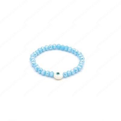 Gorgeous Mother of Pearl Evil Eye Bracelet