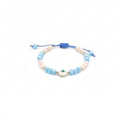 Mother of Pearl Evil Eye Bracelet