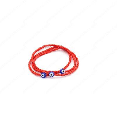 Pretty Elastic Red Evil Eyes Bracelets