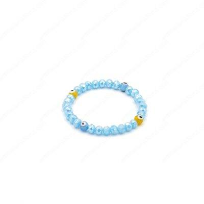 Yellow-Light Blue Evil Eye Bracelet