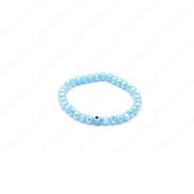 Light Turquoise Blue Evil Eye Bracelet