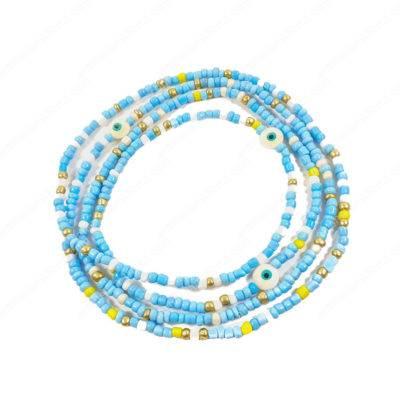 Bahama Mama Turquoise Color Evil Eyes Bracelet